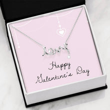 Load image into Gallery viewer, Happy Valentine's Day Love Girlfriend Wife Scripted Love Word Necklace