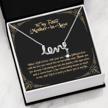 Load image into Gallery viewer, To My Future Mother in Law Scripted Love Word Necklace