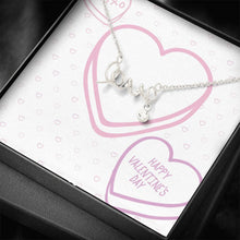 Load image into Gallery viewer, Valentine's  Candy Hearts To Wife girlfriend Scripted Love Word Necklace