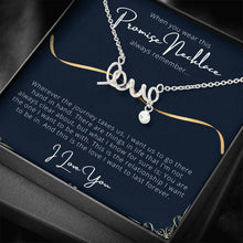 Load image into Gallery viewer, PROMISE To My Wife or Girlfriend Love Scripted Love Word Necklace