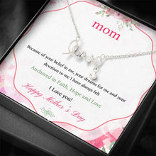 Load image into Gallery viewer, To Mom Happy Mother's Day I Love you  Scripted Love Word Necklace