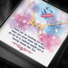 Load image into Gallery viewer, Sister Best Friends People say friends are Scripted Love Word Necklace