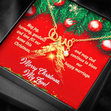 Load image into Gallery viewer, To My Love Merry Christmas Future Wife Girlfriend xmas grinch Scripted Love Word Necklace