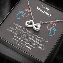 Load image into Gallery viewer, To My New Mommy infinity necklace with luxury message box