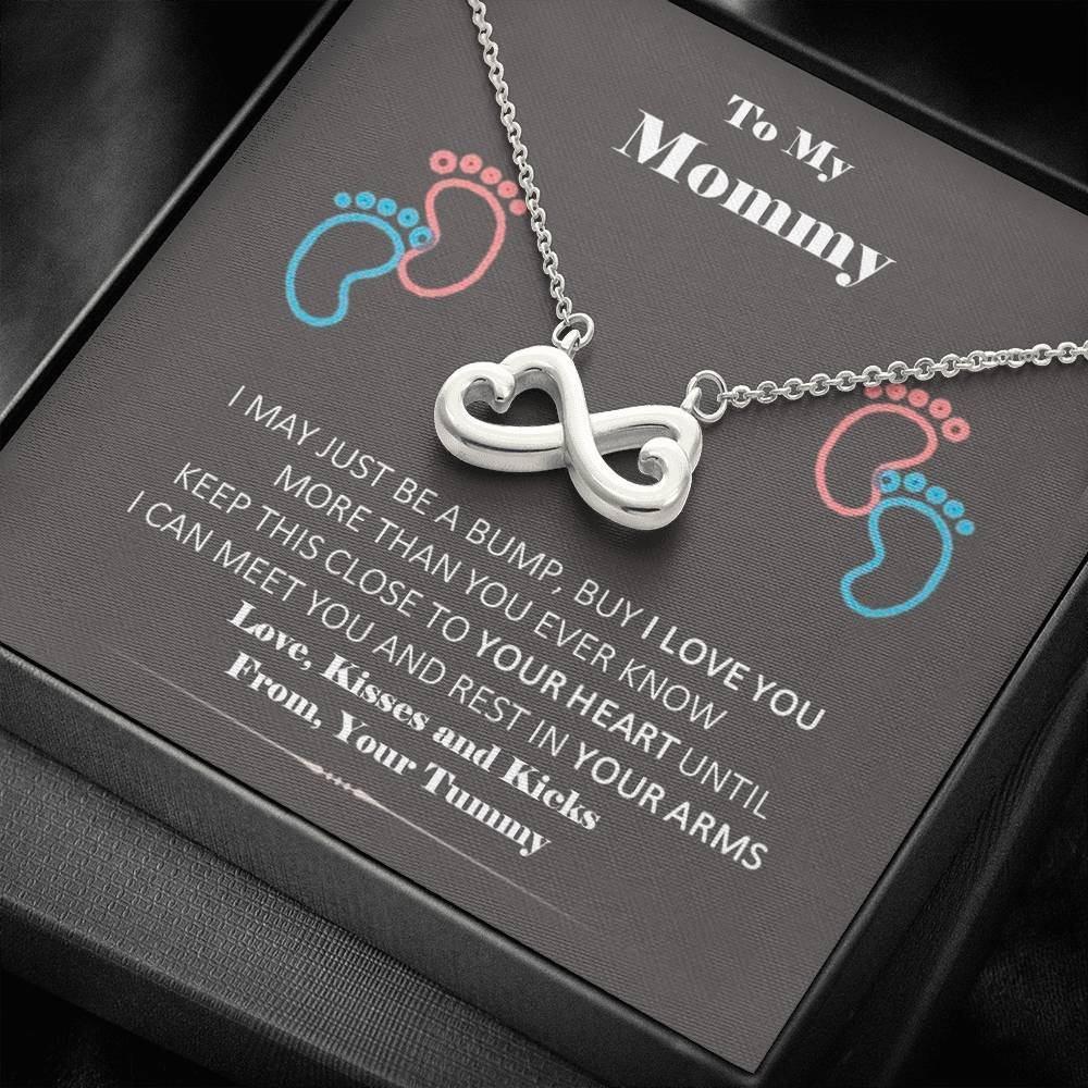 To My New Mommy infinity necklace with luxury message box
