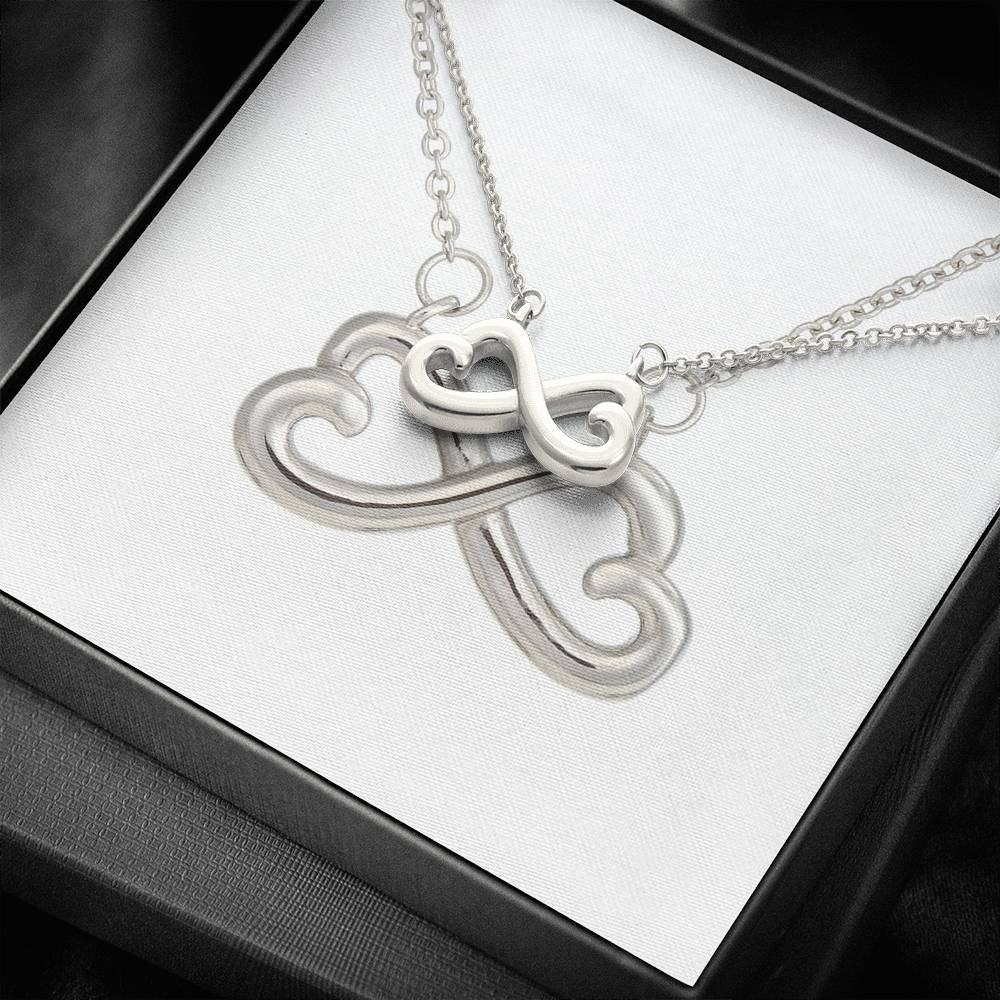 infinity necklace with luxury message box