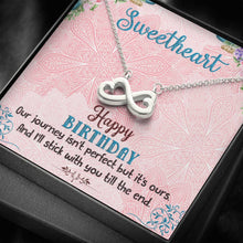 Load image into Gallery viewer, To My SweetHeart Happy Birthday Girlfriend Wife    infinity necklace with luxury message box