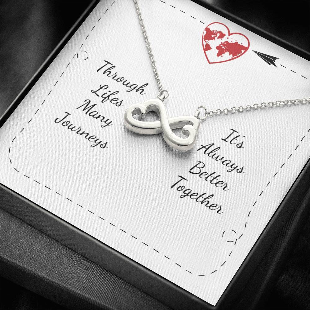 Its Always Better Togther To sister-friends-wife-girlfriend-love infinity necklace with luxury message box