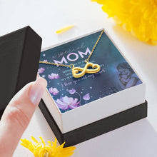 Load image into Gallery viewer, Special Mom I love you all my heart infinity necklace with luxury message box