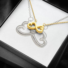 Load image into Gallery viewer, infinity necklace with luxury message box