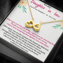 Load image into Gallery viewer, To My Daughter in law   infinity necklace with luxury message box