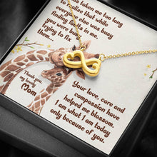 Load image into Gallery viewer, From Daughter To Mom Giraffe It has taken me   infinity necklace with luxury message box