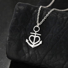 Load image into Gallery viewer, To my army wife when you miss me just Anchor Shape Necklace