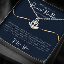 Load image into Gallery viewer, PROMISE To My Wife or Girlfriend Love Anchor Shape Necklace