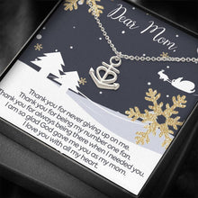 Load image into Gallery viewer, DEAR MOM THANK YOU and MERRY CHRISTMAS  Mother Anchor Shape Necklace