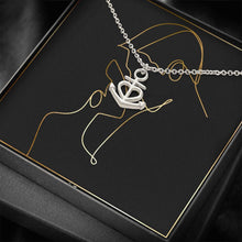 Load image into Gallery viewer, HIM & HER To Wife or Girlfriend Love Anchor Shape Necklace