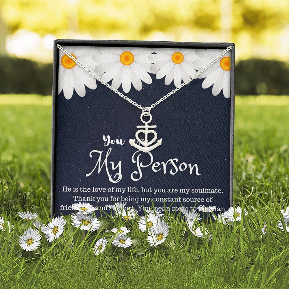 You are My  Person grey's anatomy LoveGirlfriend  Anchor Shape Necklace