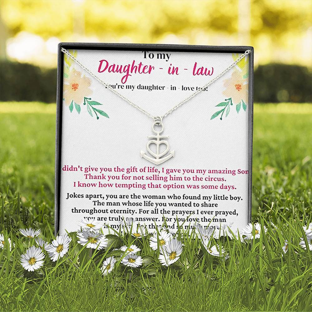 To My Daughter In Law Don't Sell My Son  Anchor Shape Necklace