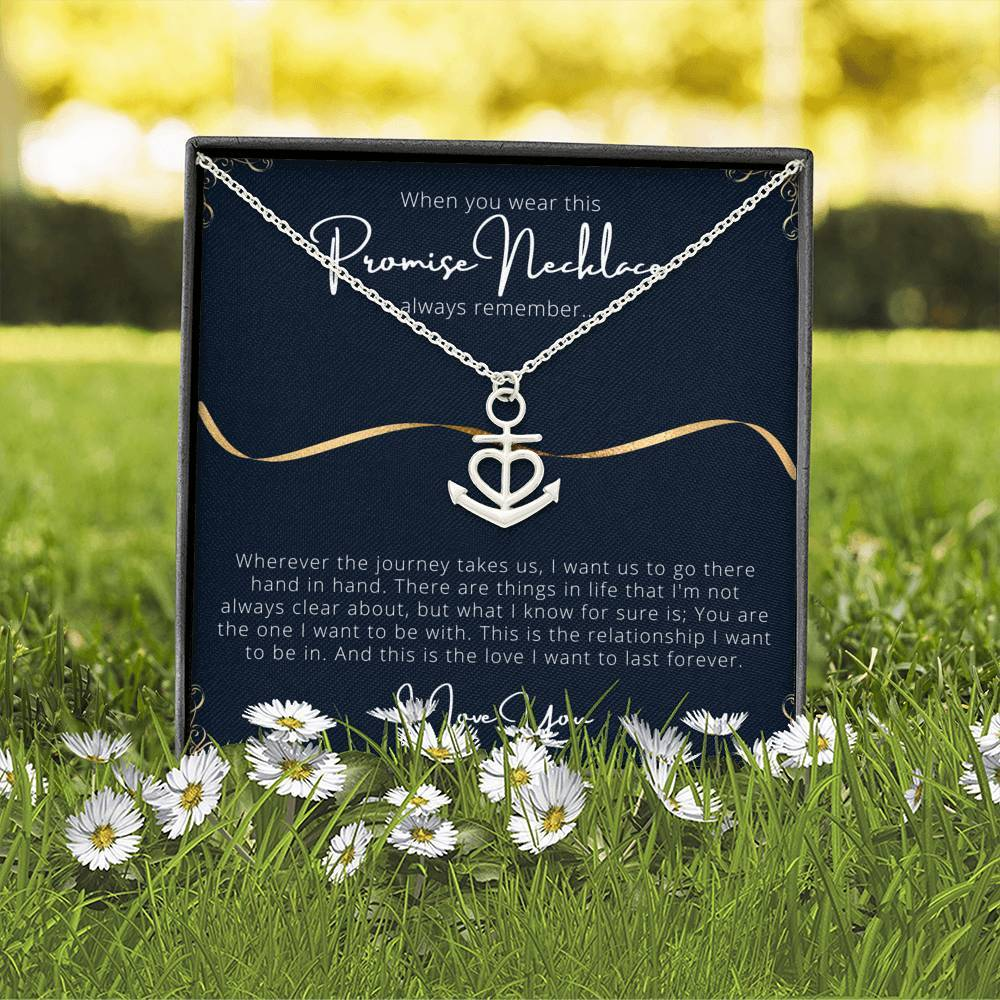 PROMISE To My Wife or Girlfriend Love Anchor Shape Necklace