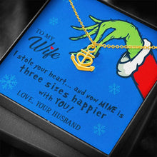 Load image into Gallery viewer, Grinch Christmas stole your heart Anchor Shape Necklace