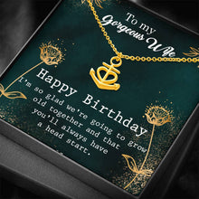 Load image into Gallery viewer, To My Gergeous Wife Happy Birthday Anchor Shape Necklace