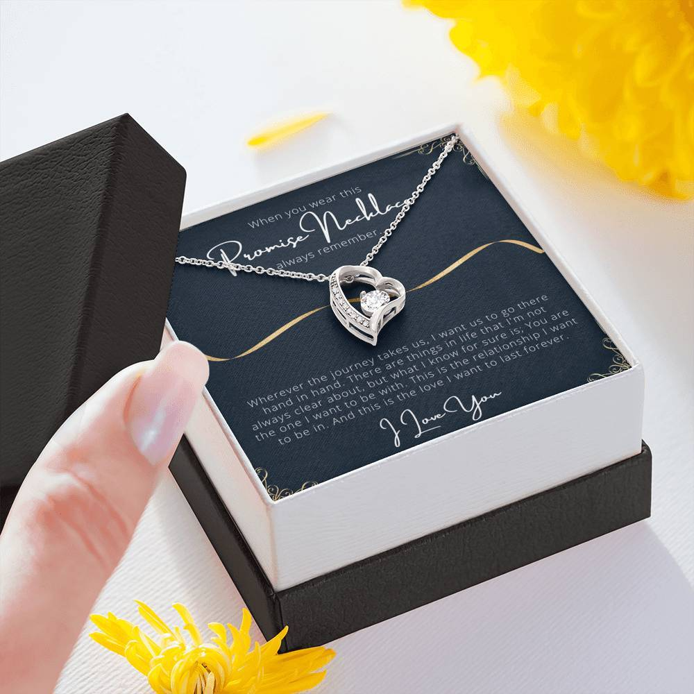 PROMISE To My Wife or Girlfriend Love Forever Love Heart Necklace personalized