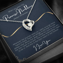 Load image into Gallery viewer, PROMISE To My Wife or Girlfriend Love Forever Love Heart Necklace personalized