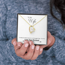 Load image into Gallery viewer, To Wife From Husband Broken Road Forever Love Heart Necklace personalized