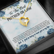 Load image into Gallery viewer, To The Best  Mother-in-law Forever Love Heart Necklace personalized