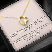 Load image into Gallery viewer, To my unbiological sister friend Forever Love Heart Necklace personalized