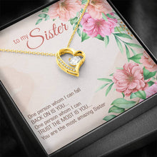 Load image into Gallery viewer, To My Sister You are the most amazing sister firend  Forever Love Heart Necklace personalized