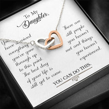 Load image into Gallery viewer, To my daughter-You have survived interlocking Hearts Necklace with Luxury Box Mahogany-style & Builtin-LED