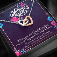 Load image into Gallery viewer, To My Mom Happy Mother's Day  interlocking Hearts Necklace with Luxury Box Mahogany-style & Builtin-LED