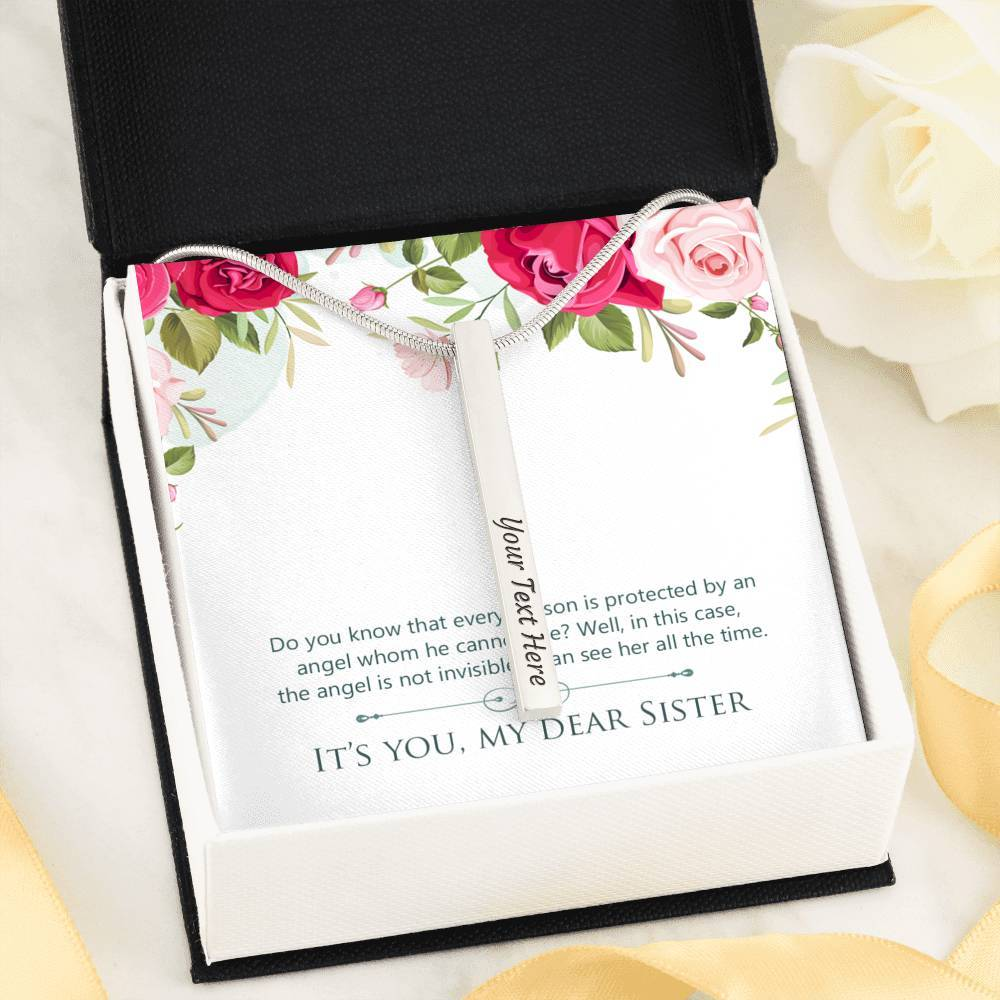 It's You My Dear Sister Friends  4-side Stick Necklace Moder Bar