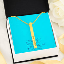 Load image into Gallery viewer, Love Each Other Wife Girlfriend 4-side Stick Necklace Moder Bar