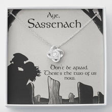 Load image into Gallery viewer, To my Sassenach Love wifeGirlfriend  Love Knot Necklace with Luxury Box Mahogany-style & Builtin-LED