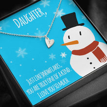 Load image into Gallery viewer, To My Daughter MERRY CHRISTMAS LIKE SNOWFLAKES Sweetest Heatrs Letter Engraving Necklace