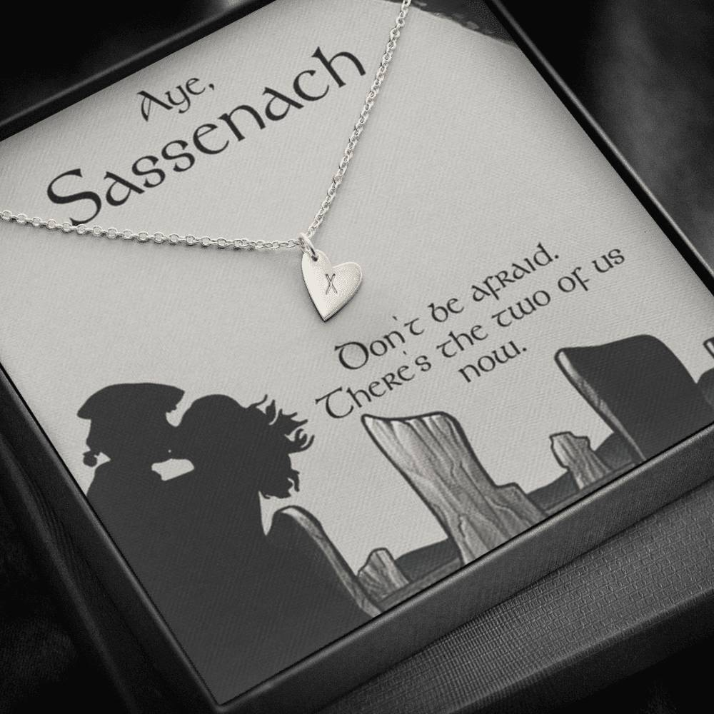 To my Sassenach Love wifeGirlfriend  Sweetest Heatrs Letter Engraving Necklace