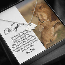 Load image into Gallery viewer, Lion Daughter Dad Design40  Sweetest Heatrs Letter Engraving Necklace