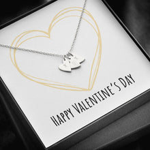 Load image into Gallery viewer, To Wife or Girlfriend Happy Valentine's Day Golden Heart Sweetest Heatrs Letter Engraving Necklace