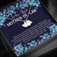 Load image into Gallery viewer, To the Best Mother In Law  Sweetest Heatrs Letter Engraving Necklace