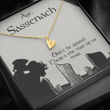 Load image into Gallery viewer, To my Sassenach Love wifeGirlfriend  Sweetest Heatrs Letter Engraving Necklace