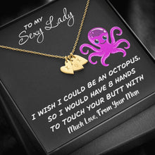 Load image into Gallery viewer, From Mom To My Sexy Lady Octopus Sweetest Heatrs Letter Engraving Necklace