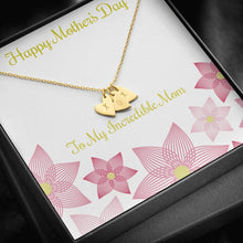 Load image into Gallery viewer, Mother's Day  To My incredible mom  Sweetest Heatrs Letter Engraving Necklace