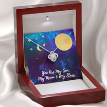Load image into Gallery viewer, You Are My SUN, MOON, STARS Love Wife Girlfriend Daughter Love Knot Necklace with Luxury Box Mahogany-style & Builtin-LED