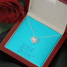 Load image into Gallery viewer, Love Each Other Wife Girlfriend Love Knot Necklace with Luxury Box Mahogany-style & Builtin-LED