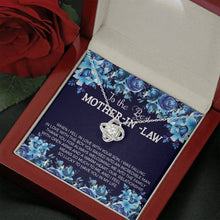 Load image into Gallery viewer, To the Best Mother In Law  Love Knot Necklace with Luxury Box Mahogany-style & Builtin-LED