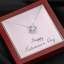 Load image into Gallery viewer, Happy Valentine's Day Love Girlfriend Wife Love Knot Necklace with Luxury Box Mahogany-style & Builtin-LED