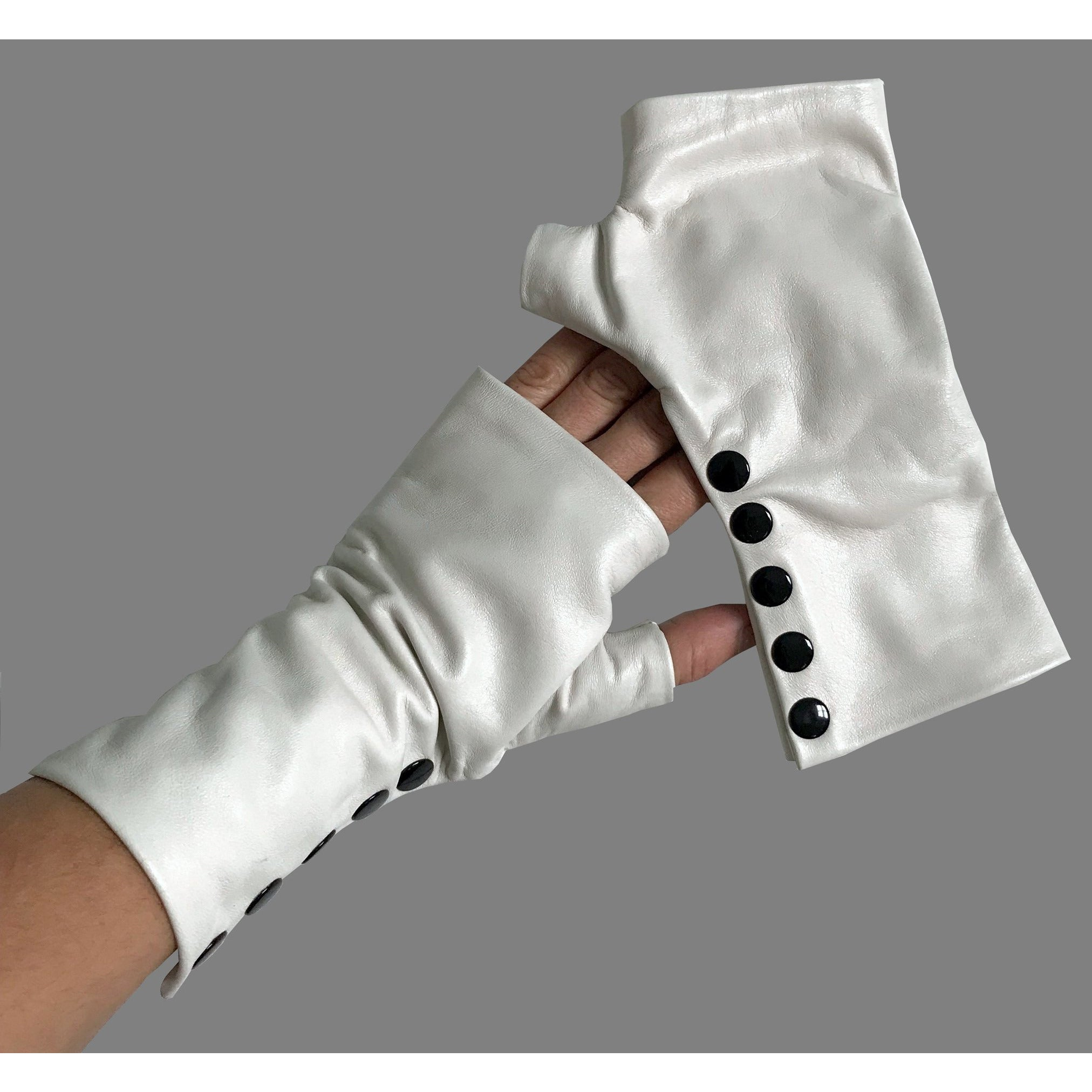 Off White Leather Gloves