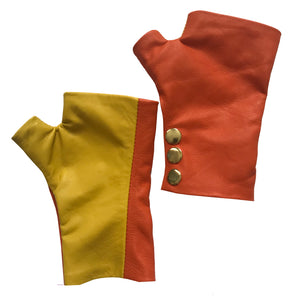 Open image in slideshow, Super Cute Fingerless Leather Gloves